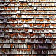Wood Roof Shingles Art Print