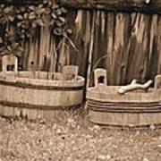 Wooden Buckets Art Print