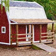 Wooden Cabin  Art Print