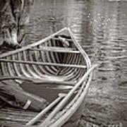 Wooden Canoe Art Print