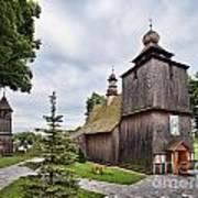 Wooden Church In Rabka Malopolska Poland Art Print