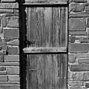 Wooden Door And Stone Wall 1 Art Print