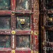 Wooden Door Print by Catherine Arnas