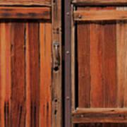 Wooden Doors Art Print