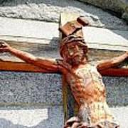 Wooden Jesus Art Print