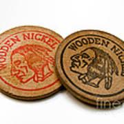 Wooden Nickels Art Print