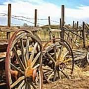 Wooden Ranch Wagon Art Print