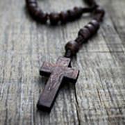 Wooden Rosary Art Print