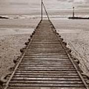 Wooden Slipway Rhos On Sea Art Print