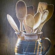 Wooden Spoons Art Print by Jan Bickerton