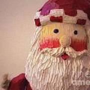 Wooden Toy Santa Art Print