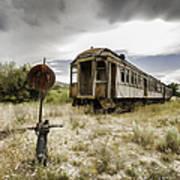 Wooden Train - Final Resting Place  Art Print