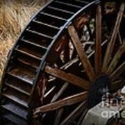 Wooden Water Wheel Art Print by Paul Ward