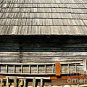 Wooden Window And Roof  Art Print