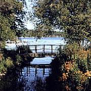 Woodfoot Bridge Of Williams Bay Wi Over Geneva Lake  Art Print