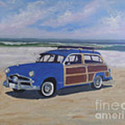 Woodie On Beach Art Print