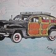 Woodie Station Wagon Art Print