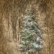 Woodland Christmas Art Print