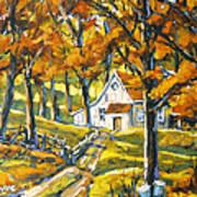 Woodland Sugar Shack By Prankearts Art Print