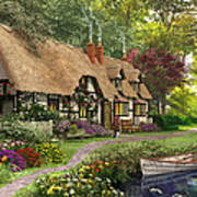 Woodland Walk Cottage Art Print