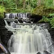 Woodland Waterfall Art Print