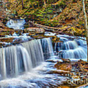 Wateralls In The Woods Art Print