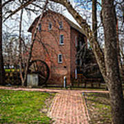 Wood's Grist Mill In Hobart Indiana Art Print by Paul Velgos