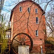Wood's Grist Mill In Northwest Indiana Art Print by Paul Velgos