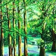Woodside View Green Art Print