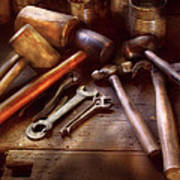 Woodworker - A Collection Of Hammers  Art Print