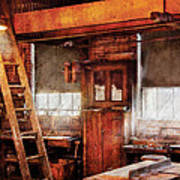 Woodworker - Old Workshop Art Print
