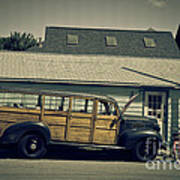Woody Bus Print by Alana Ranney