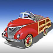 Woody Peddle Car Art Print