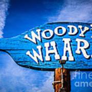 Woody's Wharf Sign Newport Beach Picture Art Print