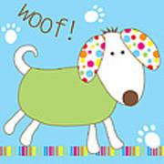 Woof Art Print