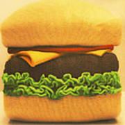 Woolly Burger Art Print