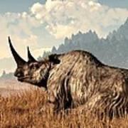 Woolly Rhino And A Marmot Art Print