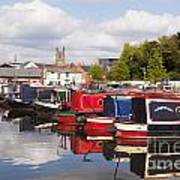 Worcester Diglis Basin Narrow Boats Art Print by Colin and Linda McKie