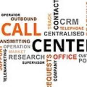 Word Cloud - Call Center Art Print