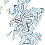 Wordcloud Of Scotland Art Print