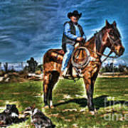 Working The Ranch Art Print