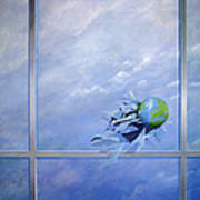 World Breaking Glass Art Print