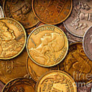 World Coins Print by Mark Miller