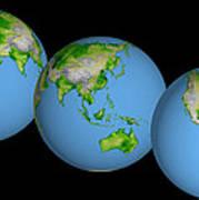 World Globes Art Print