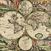 World Map 1689 Art Print