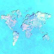 World Map 1b Art Print