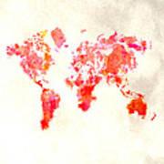 World Map 1h Art Print