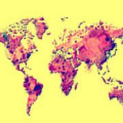 World Map 1t Art Print