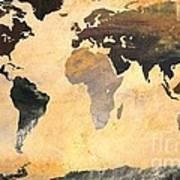 World Map   Turner 1 Art Print