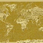 World Map Landmark Collage 10 Art Print
